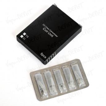 Pack de 5 résistances pour clearomiseur Kanger T2