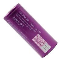 Accumulateur EFEST 26650 IMR 4200mAh 50A Flat-Top