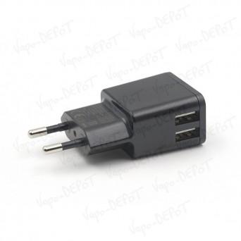 Adaptateur Secteur / double USB TEKMEE 2,4 Ampères