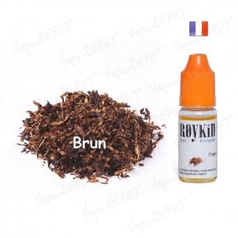 ROYKIN e-liquide arôme tabac  brun