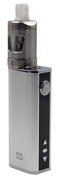 Clearomiseur INNOKIN ZLIDE monté sur une batterie ELEAF ISTICK TC40
