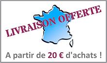 Livraison offerte dès 20 euros d'achats